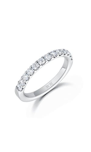 ROX Eternity Rings Platinum Brilliant Diamond Half Eternity Ring 0.75ct