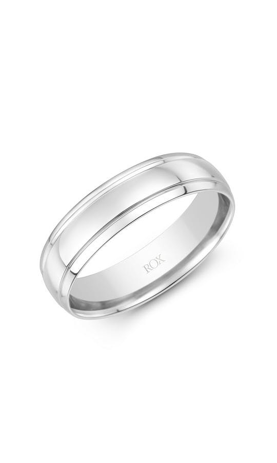 Mens Palladium Classic Flat Court Fancy Wedding Ring 6mm Wedding