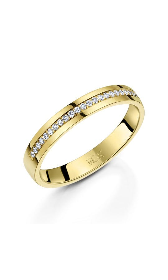 ROX Ladies Wedding Rings Ladies 18ct Yellow Gold Diamond Wedding Ring 0.12ct