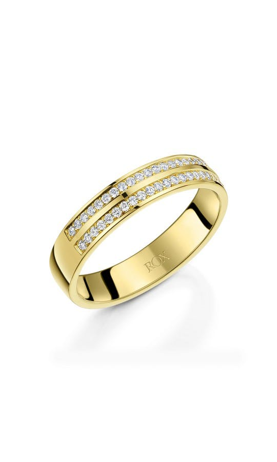 Ladies 18ct Yellow Gold Diamond Wedding Ring 0 25ct wedding