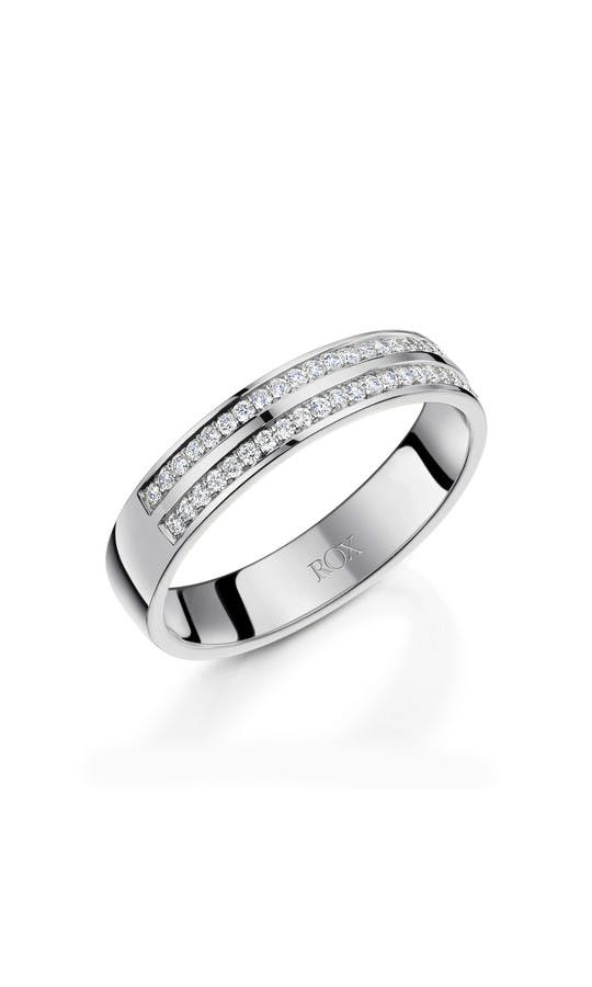 ROX Ladies Wedding Rings Ladies Platinum Diamond Wedding Ring 0.25cts 4mm