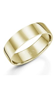 ROX Men's Wedding Rings Gents 9ct Yellow Gold Comfort Wedding Ring 6mm #50