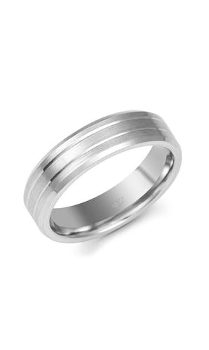 ROX Men's Wedding Rings Gents Fancy Palladium Wedding Ring 6mm