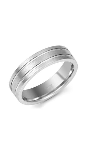 ROX Men's Wedding Rings Gents Palladium Fancy Wedding Ring 6mm