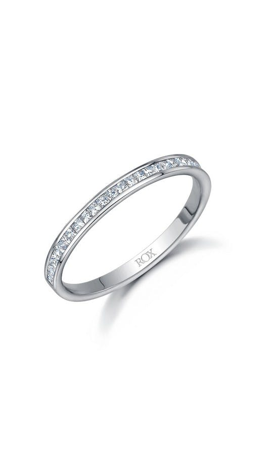 ROX Eternity Rings White Gold Princess Diamond Eternity Ring 0.25ct