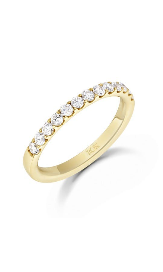 ROX Eternity Rings Yellow Gold Brilliant Diamond Eternity Ring 0.50ct