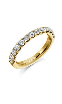 ROX Eternity Rings Yellow Gold Brilliant Diamond Eternity Ring 1.00ct #55