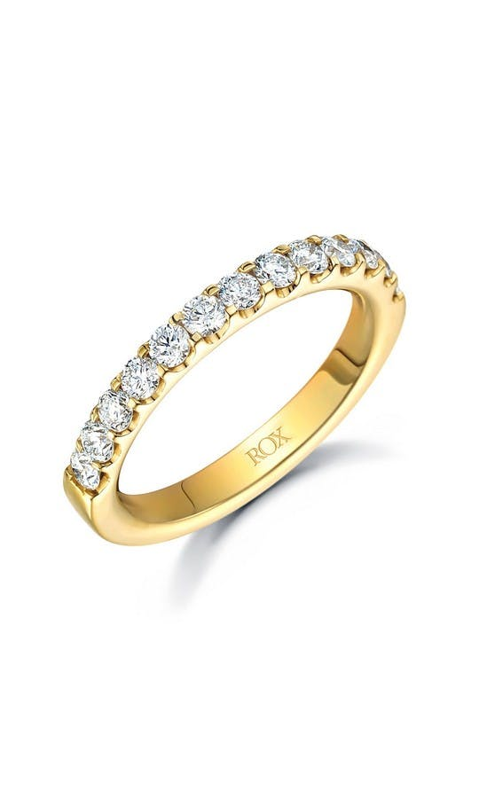 ROX Eternity Rings Yellow Gold Brilliant Diamond Eternity Ring 0.75ct