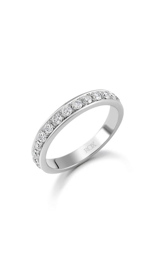ROX Eternity Rings White Gold Brilliant Pave Set Eternity Ring 0.50ct