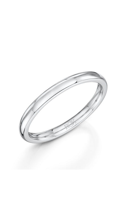 ROX Ladies Wedding Rings Ladies Platinum Court Wedding Ring 2mm