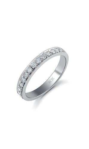 ROX Eternity Rings White Gold Brilliant Pave Set Eternity Ring 0.33ct