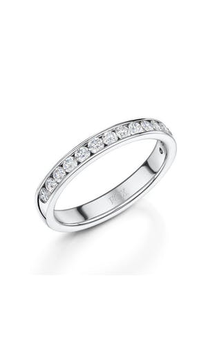 ROX Eternity Rings Platinum Brilliant Diamond Half Eternity Ring 0.50ct