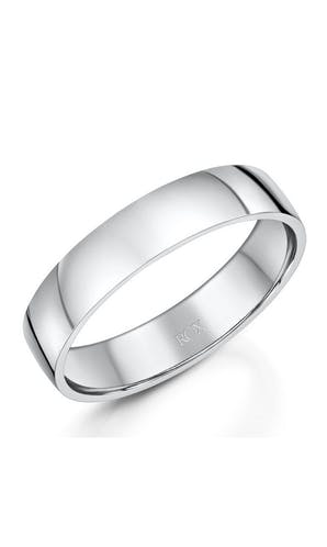 ROX Men's Wedding Rings Gents Palladium Comfort Wedding Ring 5mm