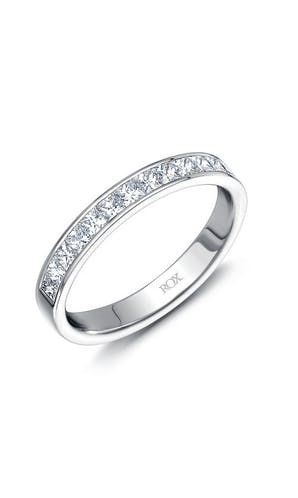 ROX Eternity Rings Platinum Princess Diamond Eternity Ring 0.75ct