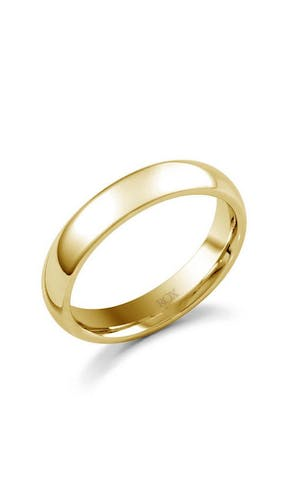 ROX Men's Wedding Rings Gents Yellow Gold Court Wedding Ring 4mm