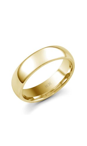 ROX Men's Wedding Rings Mens 9ct Yellow Gold Medium Court Wedding Ring 6mm