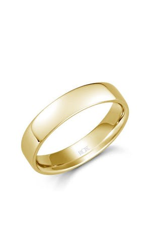 ROX Men's Wedding Rings Gents Yellow Gold Soft Edged Comfort Fit Ring 5mm