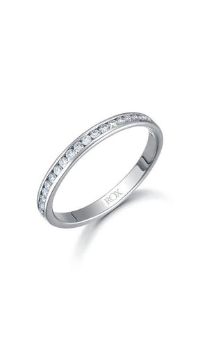 ROX Eternity Rings Platinum Brilliant Diamond Half Eternity Ring 0.25ct