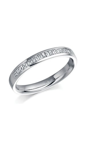 ROX Eternity Rings Platinum Baguette Diamond Eternity Ring 0.26ct