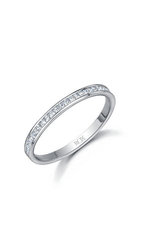 ROX Eternity Rings Platinum Princess Diamond Eternity Ring 0.25ct