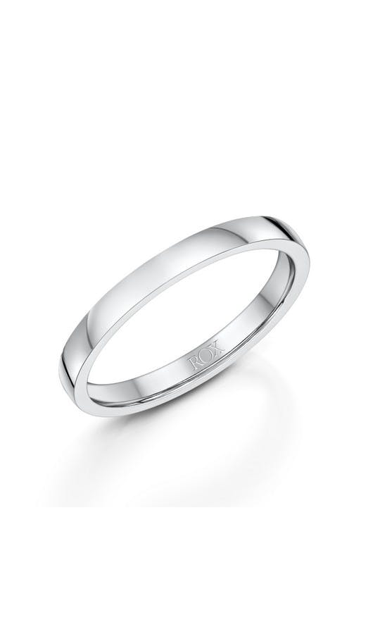 ROX Ladies Wedding Rings Ladies Platinum Comfort Wedding Ring 2mm