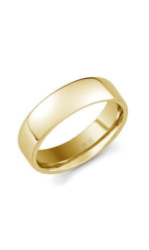 ROX Men's Wedding Rings Mens Yellow Gold Soft Edged Comfort Fit Wedding Ring 6mm