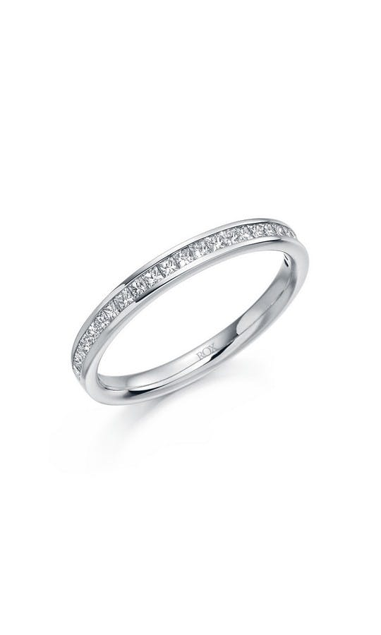 ROX Eternity Rings Platinum Princess Diamond Eternity Ring 0.33ct