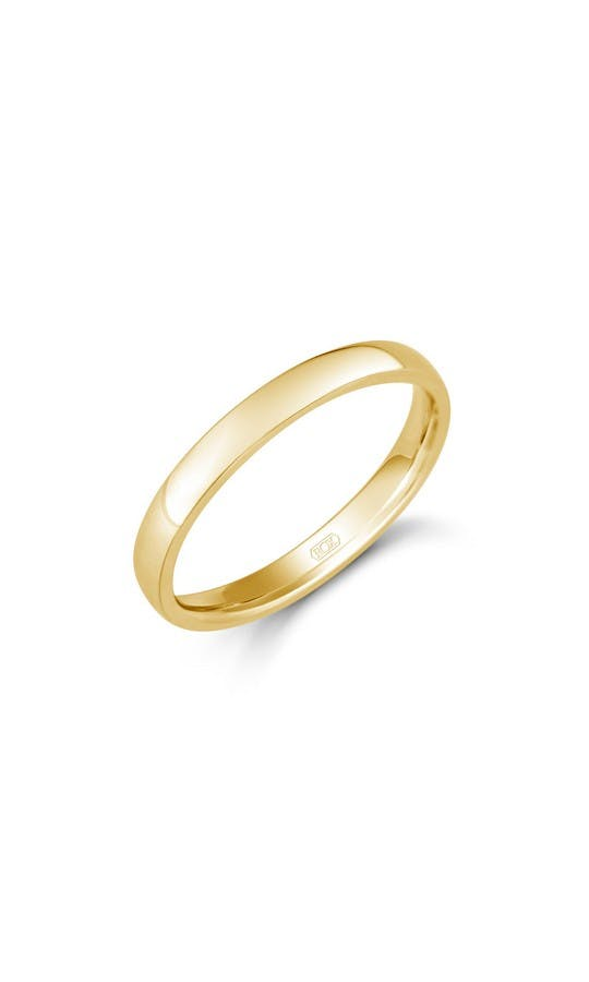 ROX Ladies Wedding Rings Ladies Yellow Gold Domed Comfort Ring 2.5mm