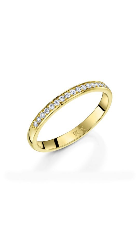 ROX Ladies Wedding Rings Ladies Yellow Gold 20 Diamond Wedding Ring 0.20ct