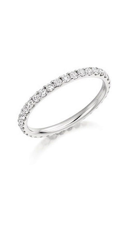 ROX Eternity Rings Platinum Diamond Claw Full Eternity Ring 0.75ct