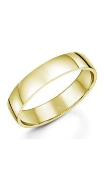 ROX Men's Wedding Rings Gents 9ct Yellow Gold Comfort Wedding Ring 5mm #46