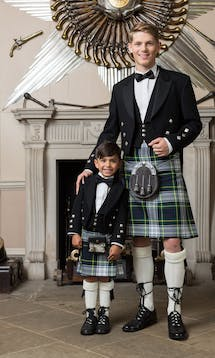 Slaters Boys Kilt Hire Gordon #3