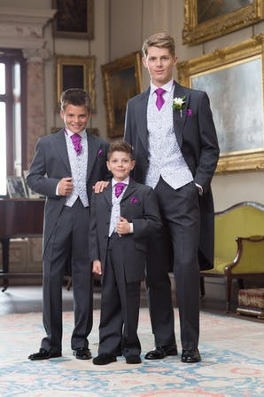 Slaters Boys Formal Hire Morning Suits