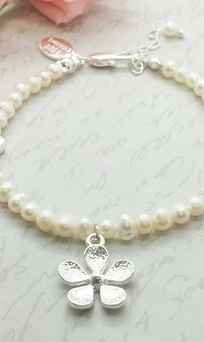 Life Charms The Wedding Collection Thank You for being my Flower Girl Bracelet