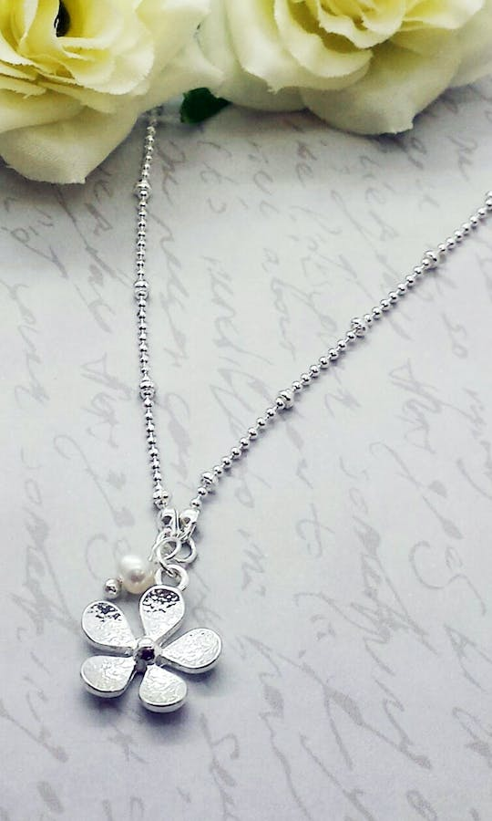 Life Charms The Wedding Collection My Pretty Flower Girl Necklace