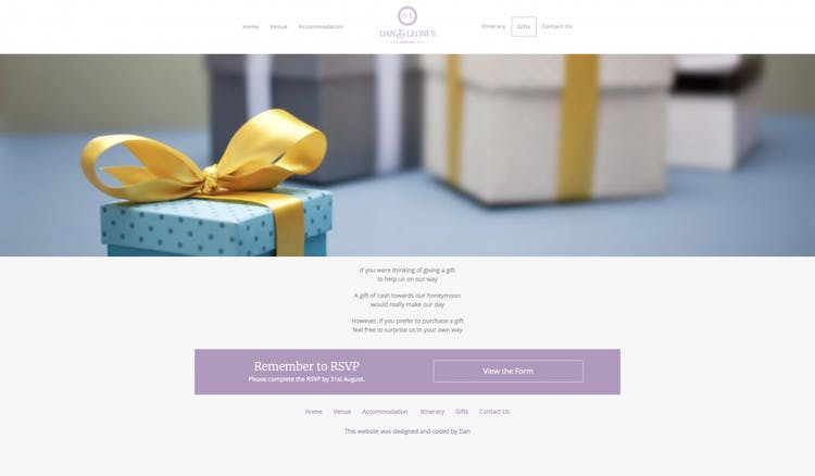 Gifts Page Example