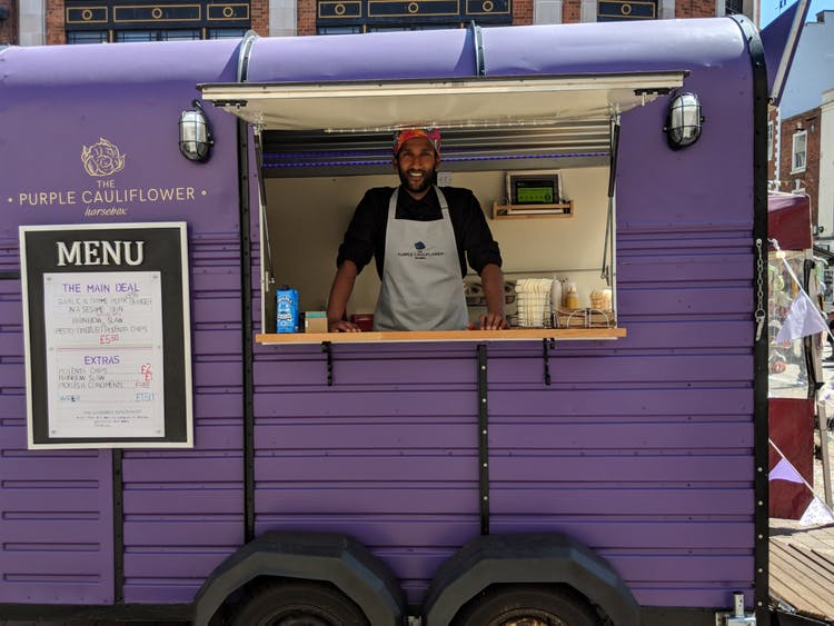 The Purple Cauliflower Horsebox