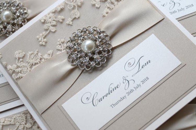 Pocketfold invitations - The Dakota Collection