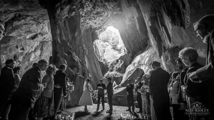 Wedisson Award Winning Image of Cave Wedding