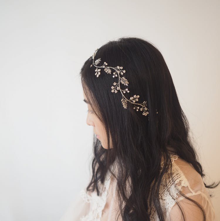 Alfina twigs and foliage hair wreath