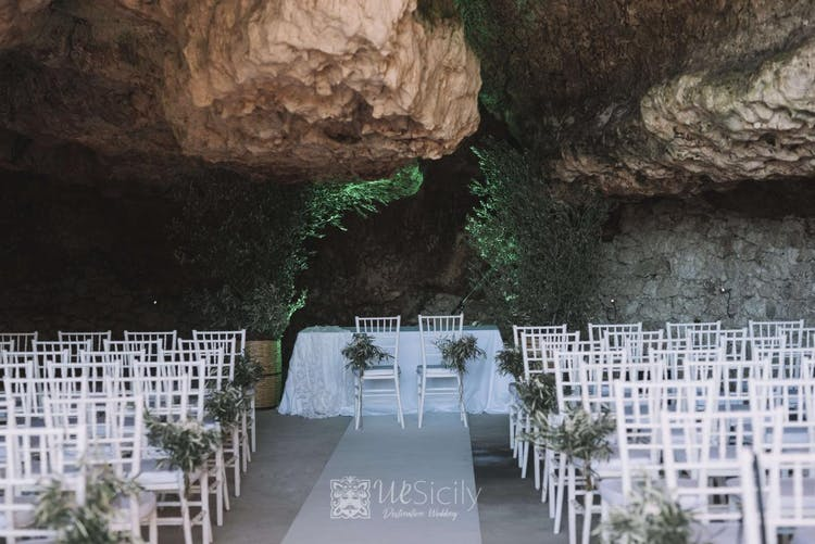 Wedding Celebration into an amazing natural cave.