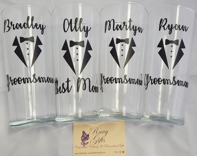Groomsmen pint glasses
