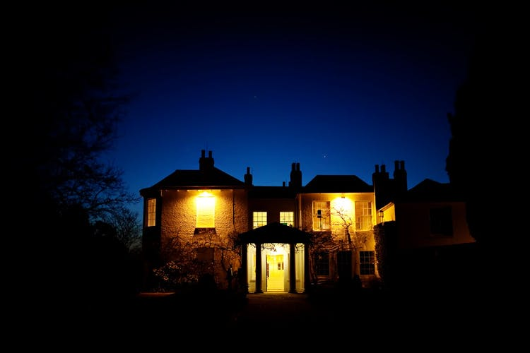 Pembroke Lodge at night