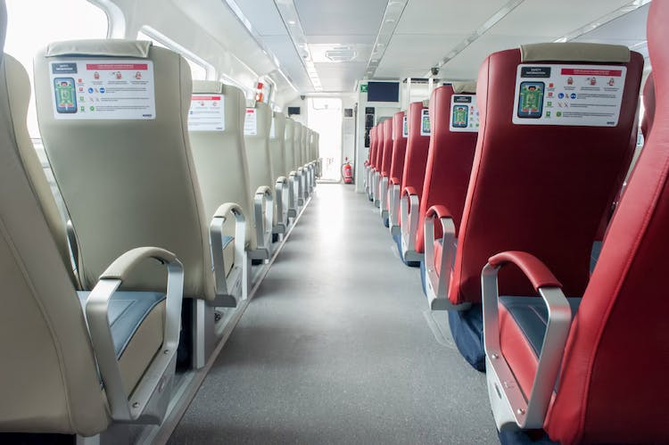 The bright and spacious passenger cabin