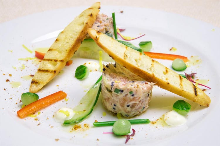 Lemon Poached Salmon and Chive Mousse