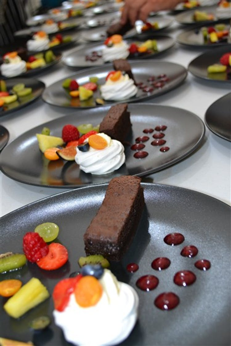 Duo of Brownie & Mini Fruit Meringues
