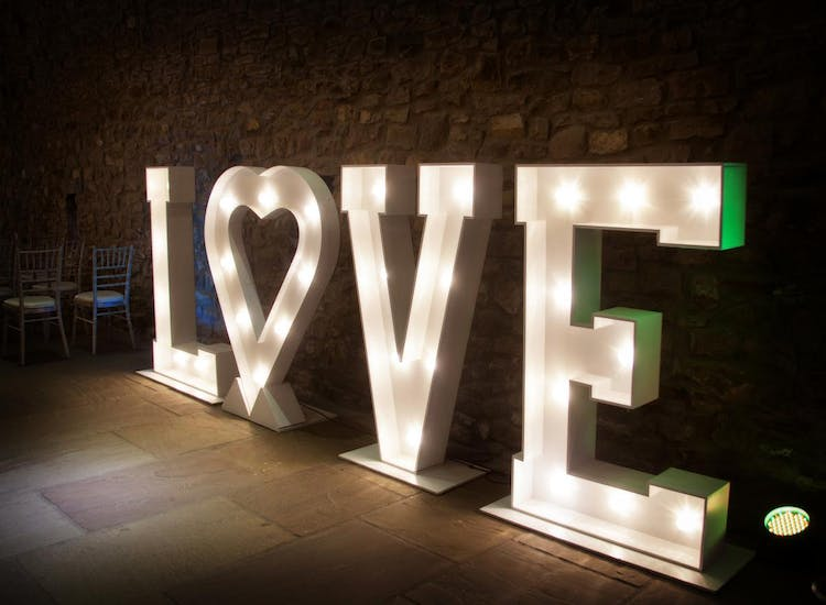 Light Up Love Letters For Hire Croydon London