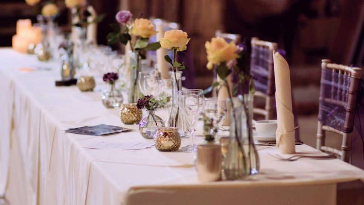 Elegant Top Table Flowers