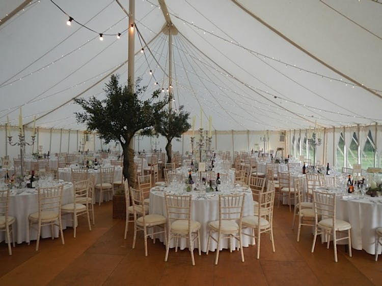 Inside a Traditional Marquee
