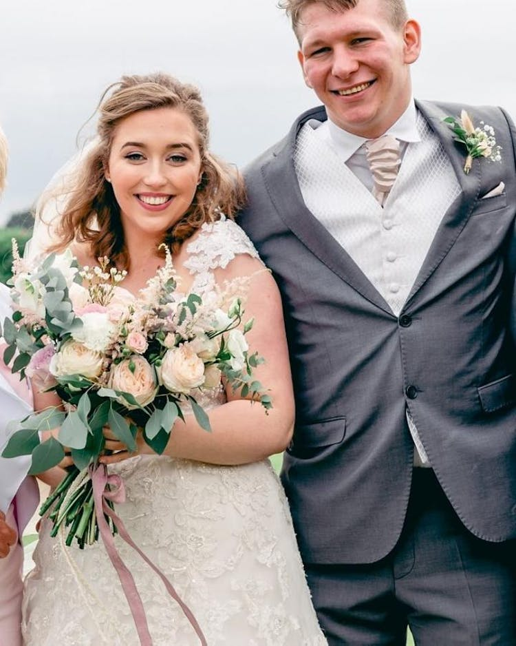 Elegant, natural English wedding with soft pinks and greens. Photo Credit: Hayley Jayne Photography